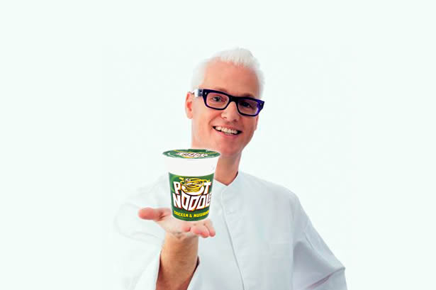 Gordon Ramsey Making a Pot Noodle